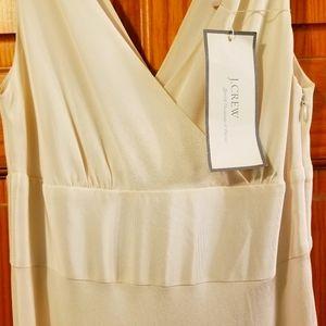 J. Crew Sophia Ivory Silk Tricotine Wedding Gown